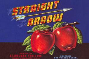 Straight Arrow Apple Crate Label
