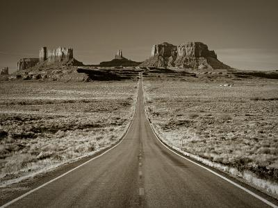 Straight Road Cutting Through Landscape of Monument Valley, Utah, USA-Gavin Hellier-Photographic Print