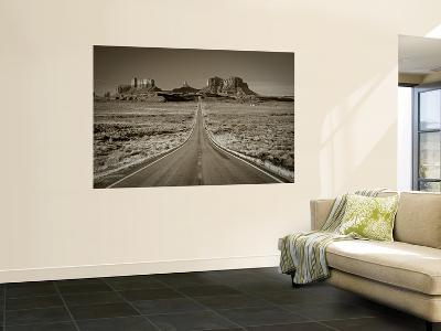 Straight Road Cutting Through Landscape of Monument Valley, Utah, Usa-Gavin Hellier-Wall Mural