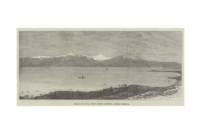 Strait of Fuca, with Mount Olympus, North America--Giclee Print