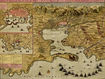 Straits of Cadiz - Gibraltar - 1700-Anna Beeck-Art Print