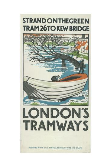 Strand on the Green, Tram 26 to Kew Bridge, London County Council (LC) Tramways Poster, 1924-M Haythorne-Giclee Print
