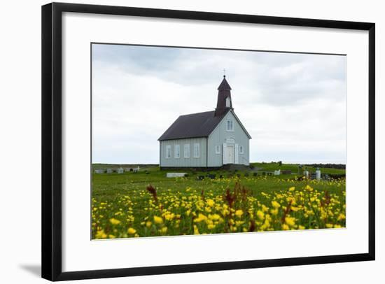 Strandarkirkja, Lupins-Catharina Lux-Framed Photographic Print