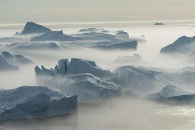 Stranded Icebergs at the Mouth of the Icefjord Near Ilulissat, Greenland-Luis Leamus-Photographic Print