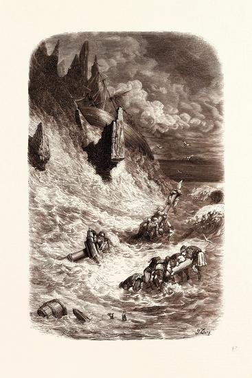 Stranding of Sinbad's Ship-Gustave Dore-Giclee Print