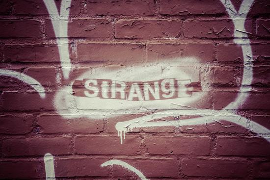 Strange Graffiti in Williamsburg neighbourhood, Brooklyn, New York, USA-Andrea Lang-Photographic Print