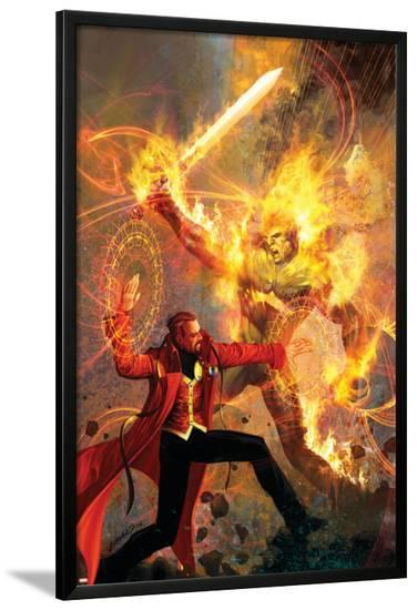 Strange No.6 Cover: Dr. Strange and Dormammu Fighting--Lamina Framed Poster