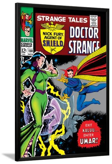 Strange Tales No.150 Cover: Dr. Strange and Umar-Bill Everett-Lamina Framed Poster