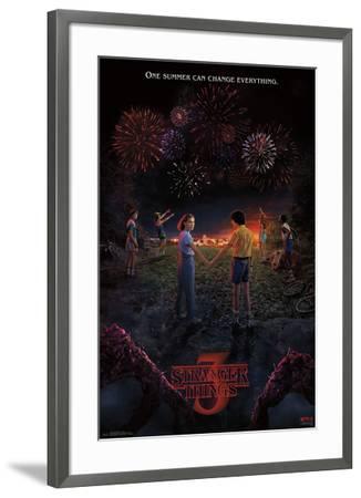 Stranger Things 3 - Key Art--Framed Poster