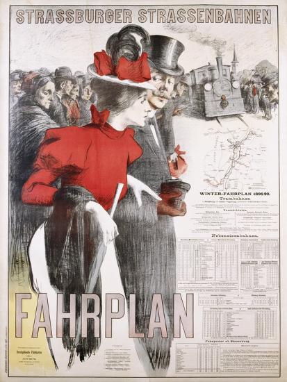 Strassburger Strassenbahnen Fahrplan Poster--Photographic Print