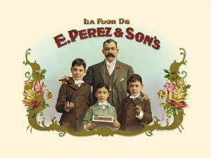 La Flor De E. Perez & Sons by Strasser & Voigt Litho Haywood