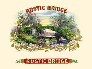 Rustic Bridge by Strasser & Voigt Litho Haywood