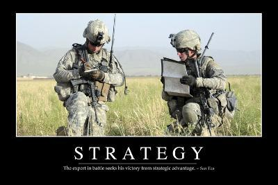 Strategy: Inspirational Quote and Motivational Poster--Photographic Print