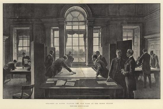 Strategy on Paper, Playing the War Game at the Horse Guards-Henry Marriott Paget-Giclee Print