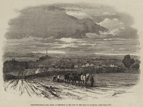 Stratford-Upon-Avon, from an Eminence to the Left of the Road to Warwick--Giclee Print