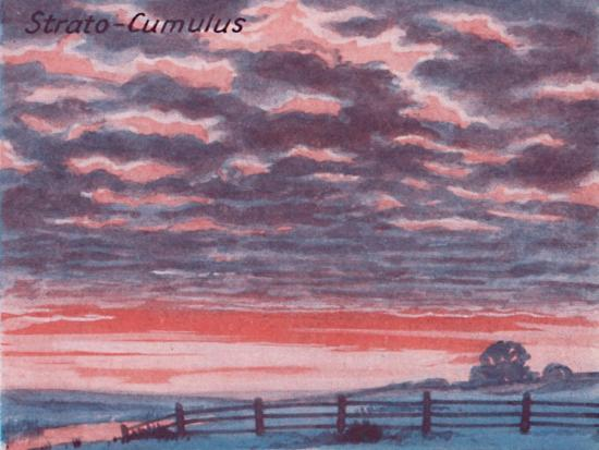 'Strato-Cumulus - A Dozen of the Principal Cloud Forms In The Sky', 1935-Unknown-Giclee Print
