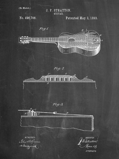Stratton and Son Acoustic Guitar Patent-Cole Borders-Art Print