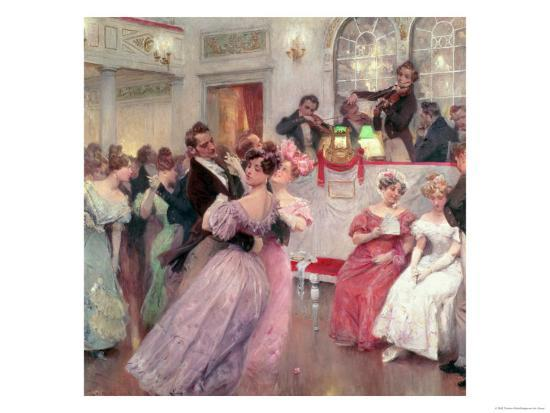 Strauss and Lanner, the Ball, 1906-Charles Wilda-Giclee Print