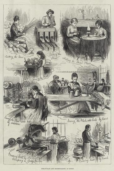 Straw-Plait and Bonnet-Making at Luton--Giclee Print