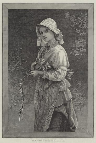 Straw-Plaiting in Bedfordshire, a Luton Lass--Giclee Print