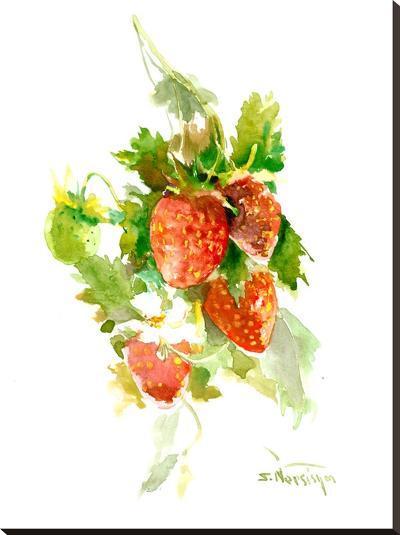 Strawberries 2-Suren Nersisyan-Stretched Canvas Print