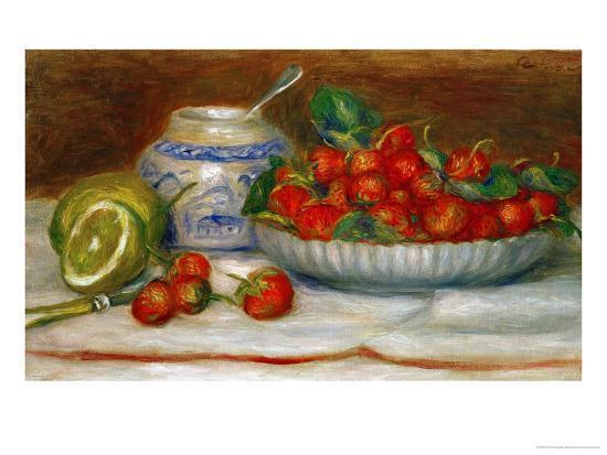 Strawberries, circa 1905-Pierre-Auguste Renoir-Giclee Print