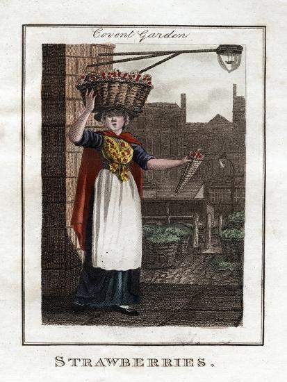 Strawberries, Covent Garden, London, 1805--Giclee Print