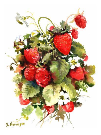 Strawberries-Suren Nersisyan-Art Print