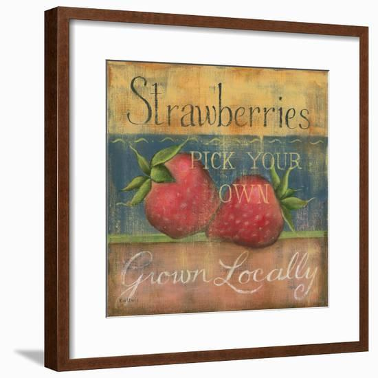 Strawberries-Kim Lewis-Framed Premium Giclee Print