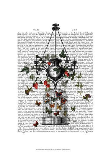 Strawberry Chandelier-Fab Funky-Art Print