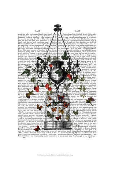 Strawberry Chandelier-Fab Funky-Art Print