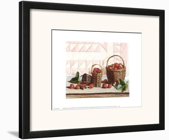 Strawberry Time Framed Art Print by Pauline Eblé Campanelli   Art.com