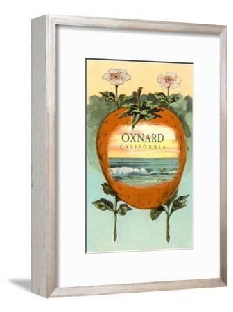 Strawberry with Ocean Scene Inside, Oxnard, California--Framed Art Print