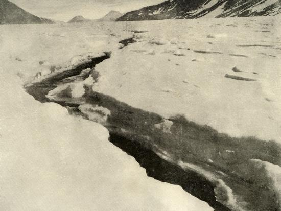 'Stream of Running Water in the Middle of the Ferrar Glacier in Midsummer', c1908, (1909)-Unknown-Photographic Print