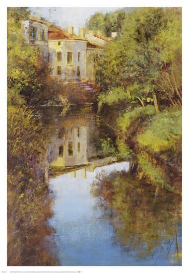 Stream Reflections-Michael Longo-Art Print