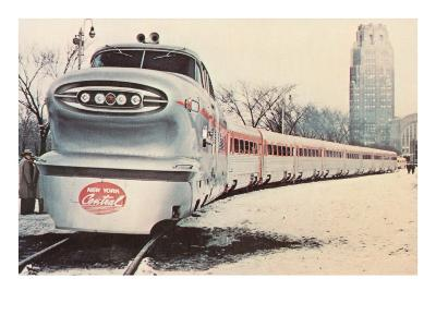 Streamlined New York Central Train--Art Print