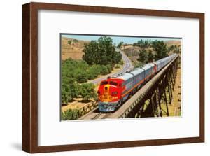 Streamlined Train on Trestle