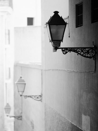 Streelights, Palma, Mallorca, Spain-Walter Bibikow-Photographic Print