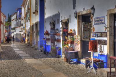 Street Along Obidos, Leiria, Portugal-Julie Eggers-Photographic Print