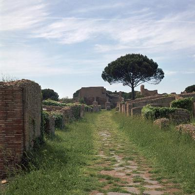 Street and Buildings in the Roman Town of Ostia, 2nd Century-CM Dixon-Photographic Print