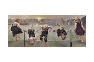 Street Arabs at Play, 1890-Dorothy, Nee Tennant Stanley-Giclee Print