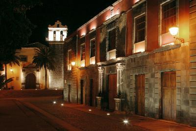 Street at Night, Garachico, Tenerife, 2007-Peter Thompson-Photographic Print