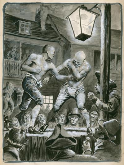 Street Bare Knuckle Fight-Peter Jackson-Giclee Print
