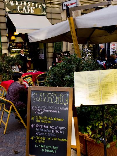 Street Cafe, Milan, Lombardy, Italy, Europe-Charles Bowman-Photographic Print