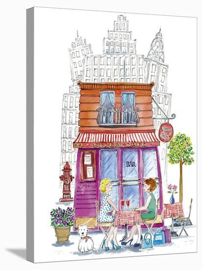 Street Cafe-Kate Mawdsley-Stretched Canvas Print