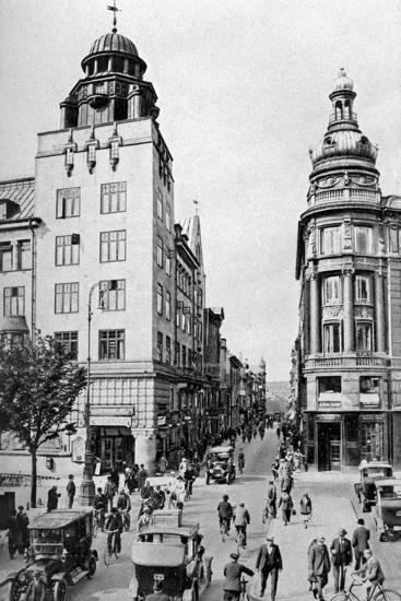 Street, Copenhagen, Denmark, C1922-Edward Galloway-Giclee Print