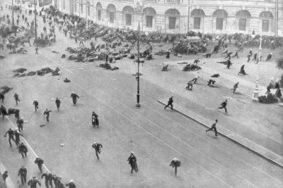 Street Fighting in Petrograd, Russia, 17th July 1917--Giclee Print