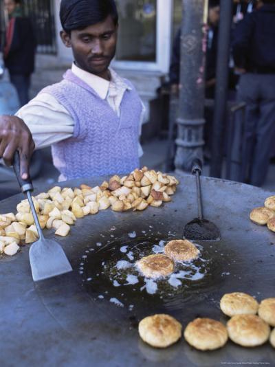 Street Food, Delhi, India-John Henry Claude Wilson-Photographic Print