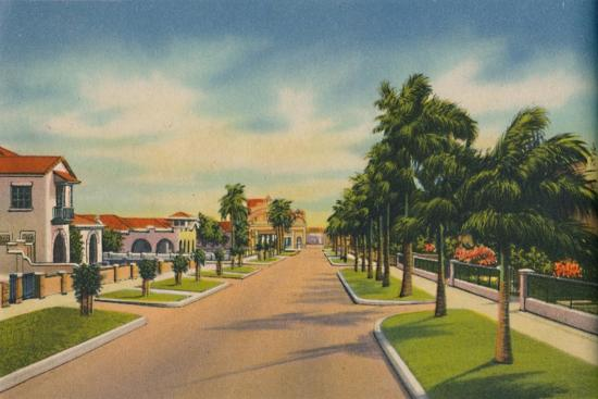 'Street in a residential district, Barranquilla', c1940s-Unknown-Giclee Print