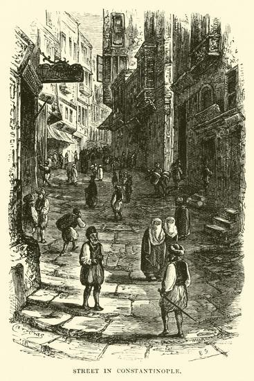 Street in Constantinople--Giclee Print